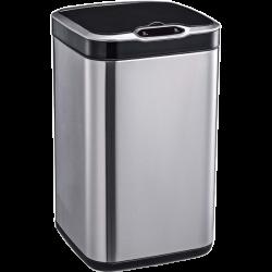 Сенсорное мусорное ведро JAH 13 л квад. сереб. мет. с вн. вед.