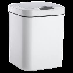 Сенсорное мусорное ведроJAH 15 л квад. белый