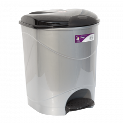 Ведро для мусора с педалью Irak Plastik Bella №3 30 л серый металлик