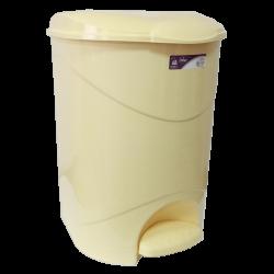 Ведро для мусора с педалью Irak Plastik Bella №3 30 л жёлтый