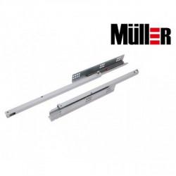 Направляющие скрытого монтажа част. выдвиж. SC L=400 Muller с доводчиком