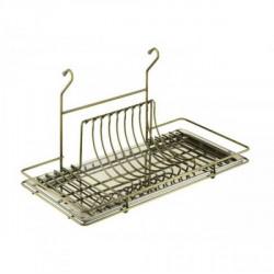 Навесные полки к рейлингу d=16 для посуды Lemax бронза (1 поддон)