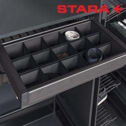 Органайзер для белья  в секцию 900 мм Starax S-6808 антрацит