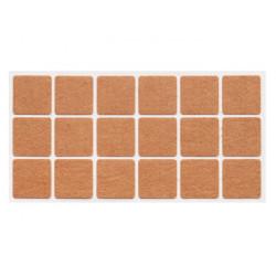 Подпятник мебельныйсамоклеющийся мягкий квадратный Weiss 20х20 войлок (40 шт)