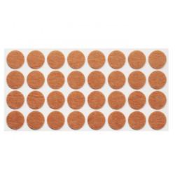 Подпятник мебельныйсамоклеющийся мягкий круглый Weiss d=45 войлок (10 шт)