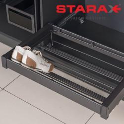 Выдвижная полка для обуви в секцию 600 мм Starax S-6809 антрацит