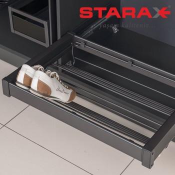 Купить Выдвижная полка для обуви в секцию 700 мм Starax S-6810 антрацит ВЫДВИЖНАЯ ПОЛКА от Мебельная фурнитура STARAX (Турция)