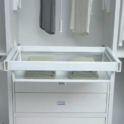 Полка для одежды центральная стекло 564-664мм Muller