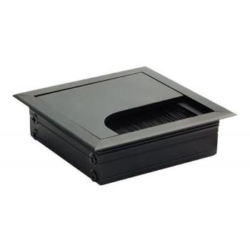 Купить Пропуск для кабеля врезной Virno Lines 80/80 черный РАЗНОЕ от Мебельная фурнитура Virno Style