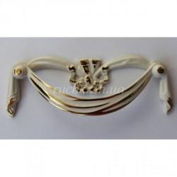 Эксклюзивные мебельные ручки белый фарфор Alliste NC 132-96.096 W