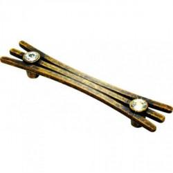 Ручка мебельная бронза со стразами Alliste V8017.128.AEB