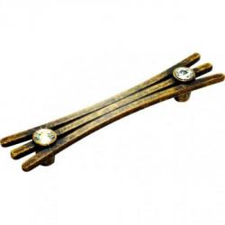 Ручка мебельная бронза со стразами Alliste V8017.192.AEB