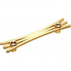 Ручка мебельная золото со стразами Alliste V8017.192.GP