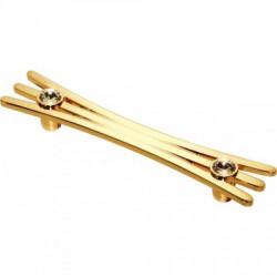Ручка мебельная золото со стразами Alliste V8017.128.GP