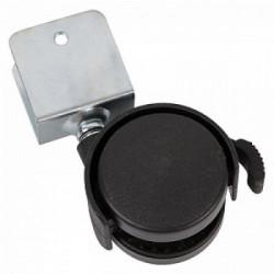 Мебельный ролик с U-образным креплением С ТОРМОЗОМ d-40мм