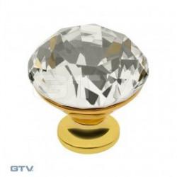 Мебельные ручкиGTV GZ-CRPD35-03 Кристалл + золото