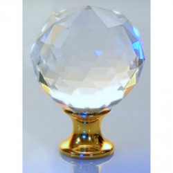 Ручки для шкафов GTV Crystal Palace A d=30 кристалл/золото (GZ-CRPA30-03)
