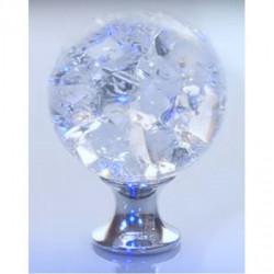 Ручки для шкафов купе GTV Crystal Palace C d=30 кристалл/хром (GZ-CRPC30-01)