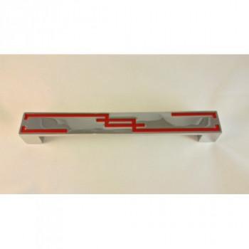 Купить Дуги 192 HS 1004 192 хром+красный РУЧКИ-СКОБЫ от Мебельные ручки Hand Style (Турция)