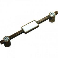 Ручка мебельная бронза с керамикой Alliste V8018.320.AEB W+Cristal