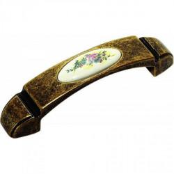 Ручки для мебели с керамической вставкой бронза Alliste F345.096.AEB C185