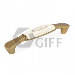 Ручки мебельные керамические античная бронза GIFF8/144-128 AB/MLK