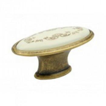Купить Ручка кнопка Virno Style Azure 101E MLC A3 бронза С КЕРАМИКОЙ от Мебельная фурнитура Virno Style