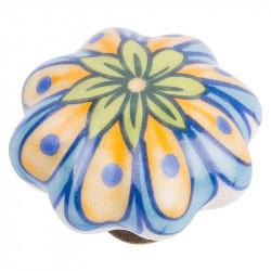 Керамические мебельные ручки CR 9130.43 античная бронза|рисунок цветок