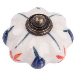 Керамические мебельные ручки CR 9140.48 античная бронза|рисунок цветы
