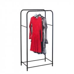 Металлическая стойка для одежды чёрнаяЛОФТ 11Б