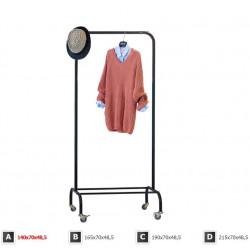 Олх стойка для одежды чёрнаяЛОФТ ПРОМ 1А