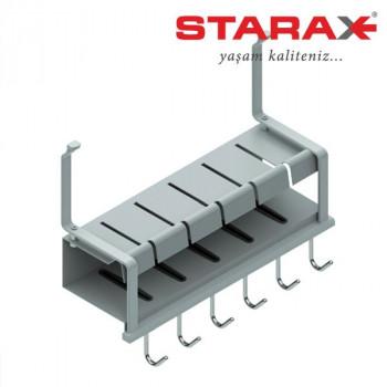 Купить Держатель для ножей на релинг Starax S-4503 алюминий СУШКА ДЛЯ ПОСУДЫ НАВЕСНАЯ НА РЕЙЛИНГ от Мебельная фурнитура STARAX (Турция)