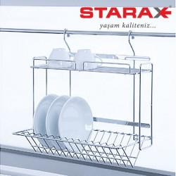 Сушка для посуды навесная на релинг Starax S-4018 хром