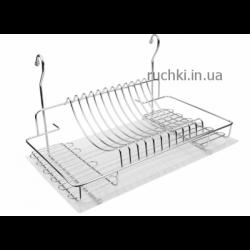 Сушка для посуды настенная навесная 500 мм хром с поддоном ДС