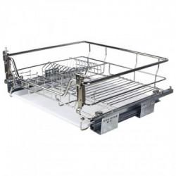 Корзина-сушка для посуды 800 мм, с доводчиком, нерж.сталь, хром, Muller