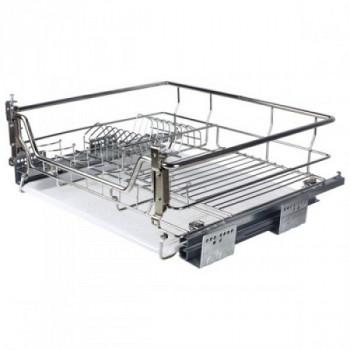 Купить Корзина-сушка для посуды 800 мм, с доводчиком, нерж.сталь, хром, Muller СУШКА ДЛЯ ПОСУДЫ ВЫДВИЖНАЯ от Мебельная фурнитура MULLER