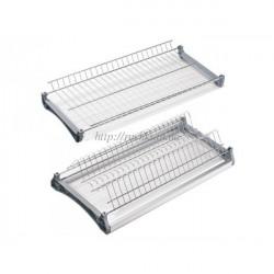 Сушка для посуды в шкаф GIFF L-700 нерж. сталь (с 2мя пласт. поддонами) с алюминиевой рамкой
