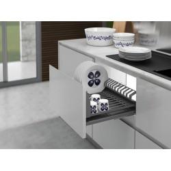 Сушка для посуды выдвижная600 с доводчиком Inoxa Helios 6703HY ардезия