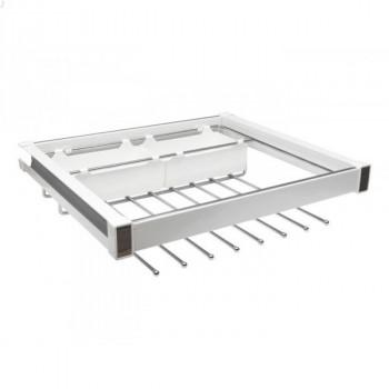Купить Брючница 759х460х150 белый/хром БРЮЧНИЦА от Мебельная фурнитура Virno Style