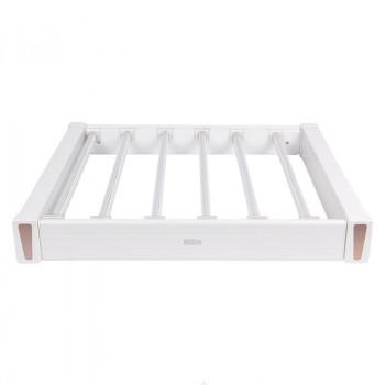 Купить Брючница 564-664 мм белая БРЮЧНИЦА от Мебельная фурнитура MULLER