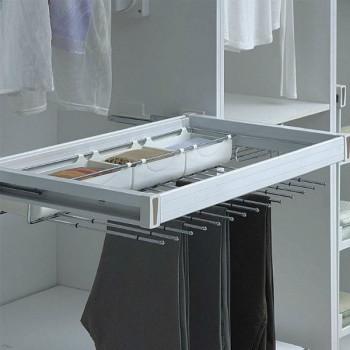 Купить Брючница 864-964 мм белая БРЮЧНИЦА от Мебельная фурнитура MULLER