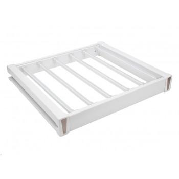 Купить Брючница 564х470х75 белый/хром БРЮЧНИЦА от Мебельная фурнитура Virno Style