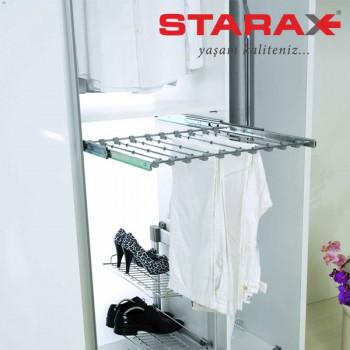 Купить Брючница 400 мм хром БРЮЧНИЦА от Мебельная фурнитура STARAX (Турция)