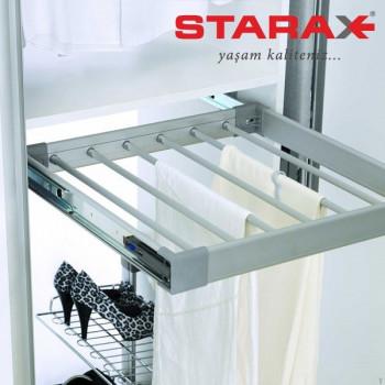 Купить Брючница 400 мм алюминий БРЮЧНИЦА от Мебельная фурнитура STARAX (Турция)