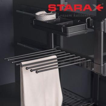 Купить Брючница 400 мм антрацит (прав.) БРЮЧНИЦА от Мебельная фурнитура STARAX (Турция)