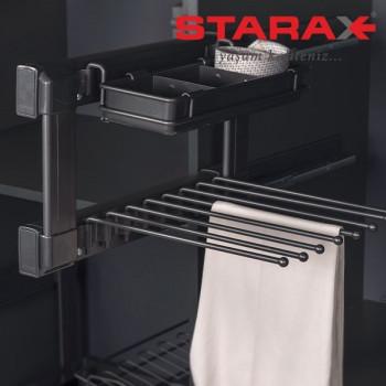 Купить Брючница 400 мм антрацит (лев.) БРЮЧНИЦА от Мебельная фурнитура STARAX (Турция)