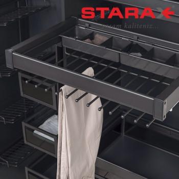 Купить Брючница 800 мм антрацит БРЮЧНИЦА от Мебельная фурнитура STARAX (Турция)