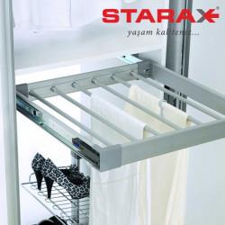 Вешалка для брюк выдвижная бокового крепления, в секцию 550 мм Starax S-6204 В
