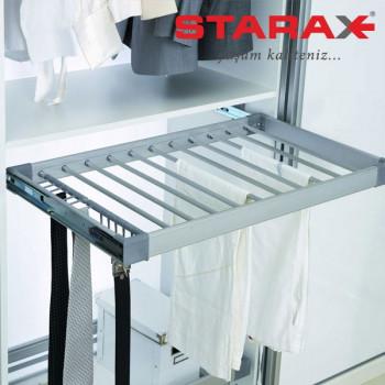 Купить Вешалка для брюк выдвижная бокового крепления, в секцию 800 мм Starax S-6207 В ВЕШАЛКИ ДЛЯ БРЮК от Мебельная фурнитура STARAX (Турция)