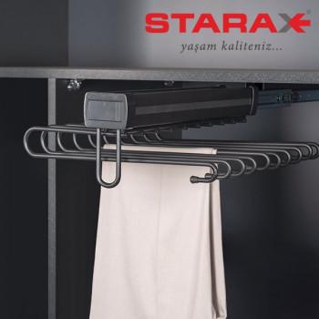 Купить Вешалка для брюк выдвижная верхнего крепления S-6772 ВЕШАЛКИ ДЛЯ БРЮК от Мебельная фурнитура STARAX (Турция)